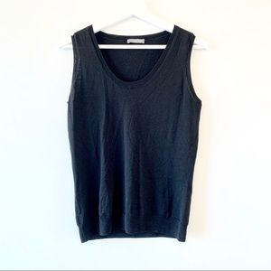 Alexander McQueen black sleeveless knit top